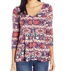 Lucky Brand Top Aztec Tribal Print size Large